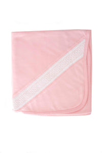 Cotton Pink Blanket White Smock Pima Cotton