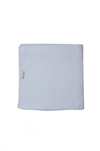 Cotton Blanket Pima Cotton Blue with White dots
