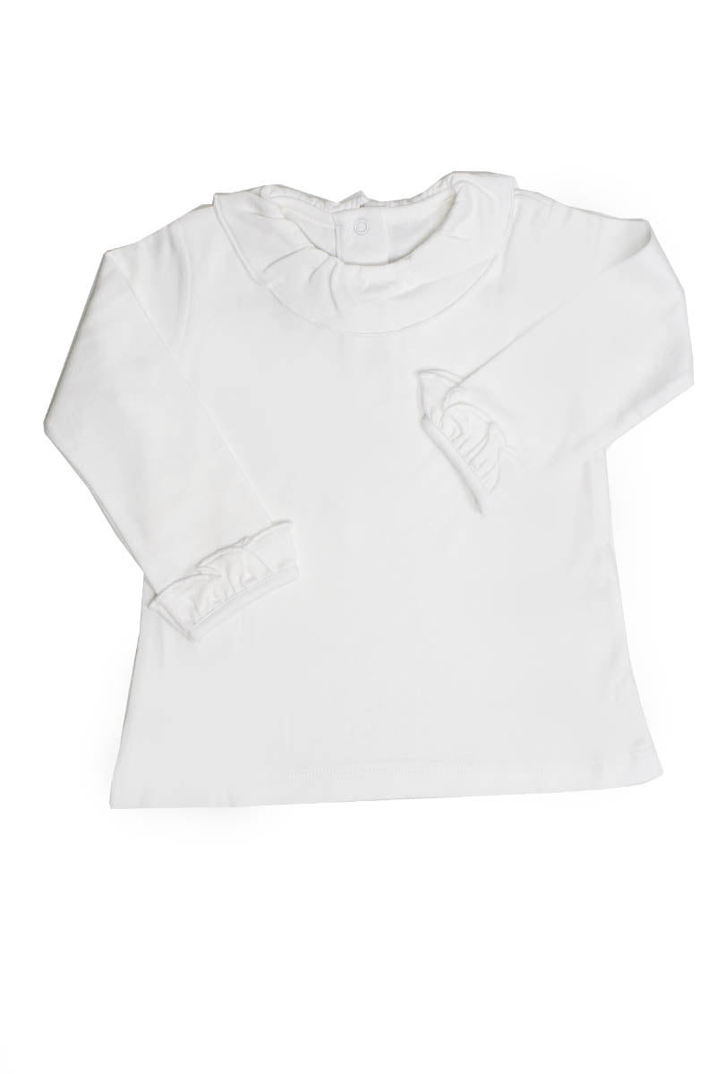 White Cotton Basic T-Shirt with neck Pima Cotton
