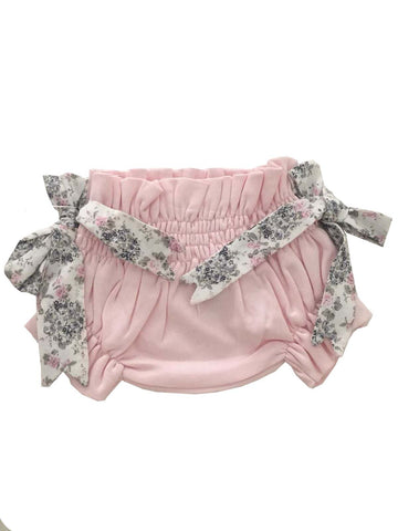 Pima cotton baby girl culotte pink