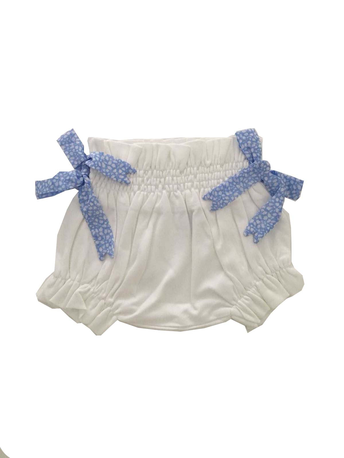 Baby Culotte Infant and toddler; blue liberty flowers