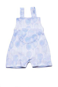 Baby Rompers Ballons Blue Pima Cotton