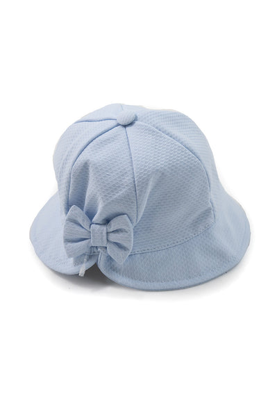 blue baby hat wide-brimmed cotton classic elegant