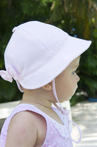 sun protection cotton pink baby hat wide-brimmed cotton classic elegant