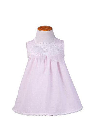 Elegant Baby Cotton Dress Pink for Girls by Patucos