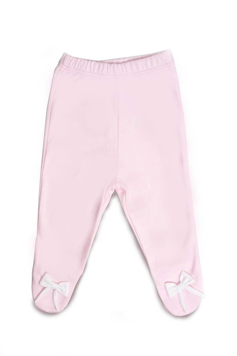 Pants Pima Cotton Pink with white bows Pima Cotton