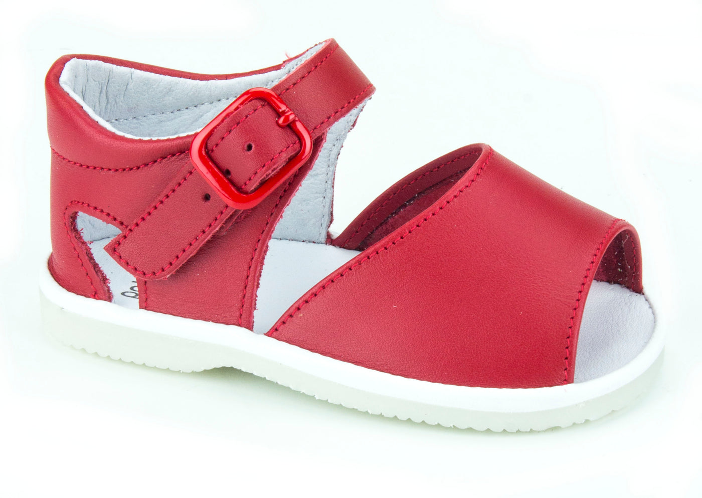 Casual Sandals Red unisex  for Boys and Girls Patucos Leather Shoes for Baby
