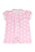 Cotton Pink Romper with little bunnies Pima Cotton