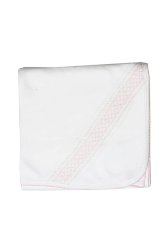 Cotton White Blanket Pink Smock Pima Cotton