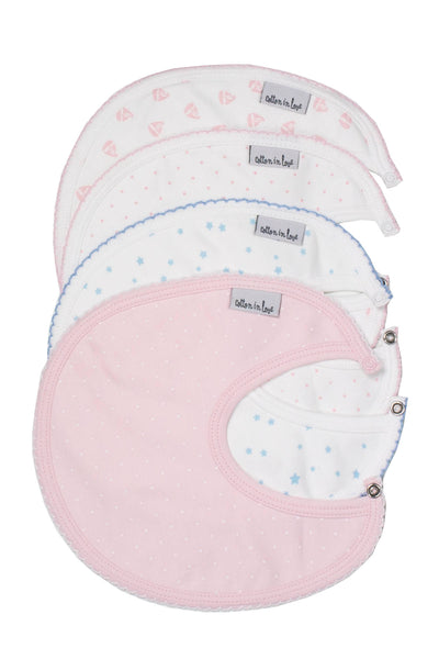 Bib Pink and Blue Pima Cotton Set