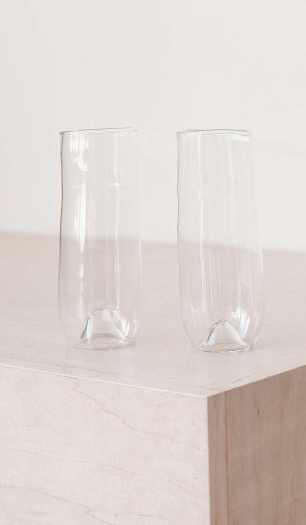 Organic Shaped Champagne Glass / Set of 2