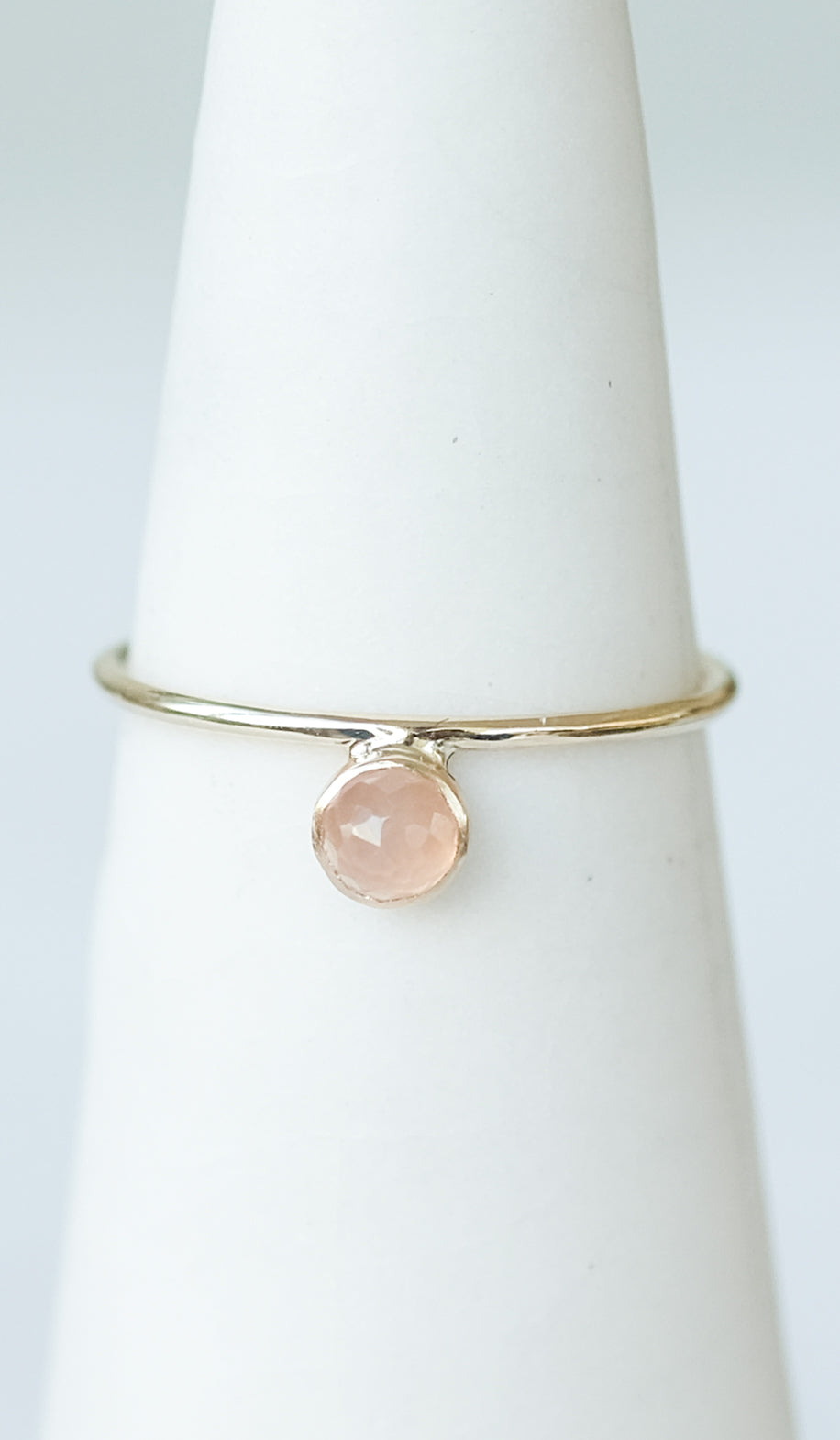 Minoux Peach Moonstone Dot Ring, Jewelry, Minoux, SPARTAN SHOP