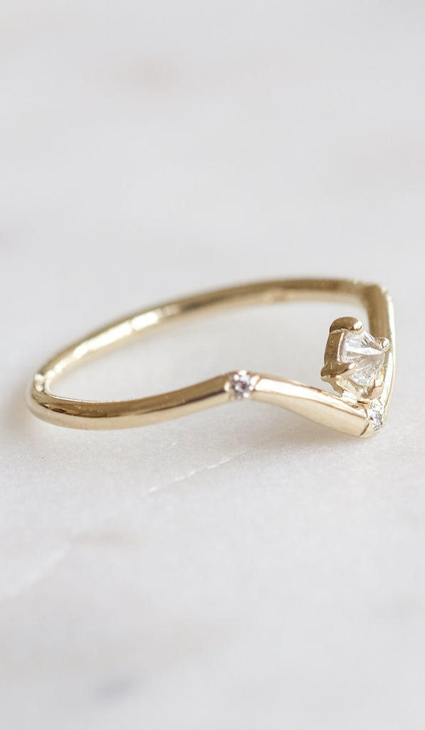 Mociun Mini Peak Ring with Reverse Set Diamond, Jewelry, Mociun, SPARTAN SHOP