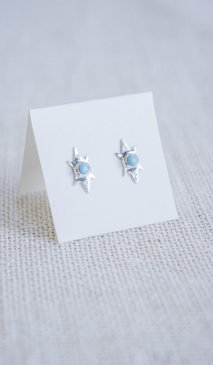 Scosha Turquoise and Diamond Studs