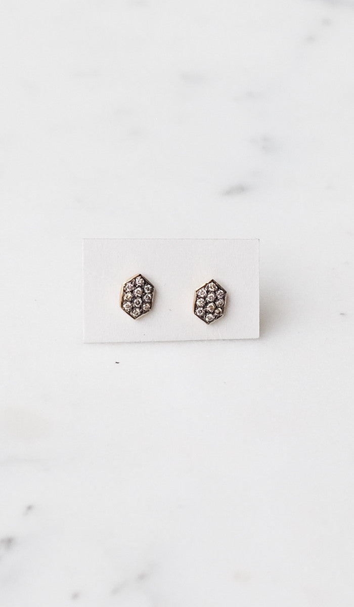 Satomi Kawakita Brown Diamond Arrow Studs - Spartan Shop