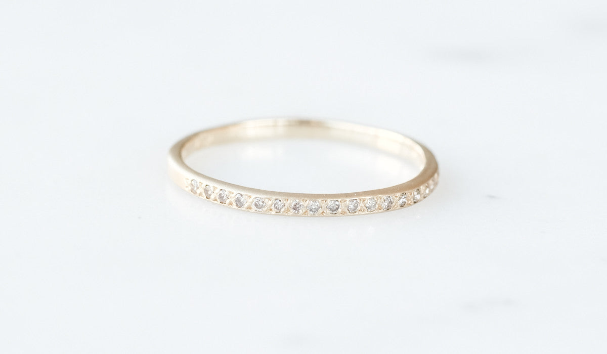 Satomi Kawakita Gold and Diamond Eternity Band