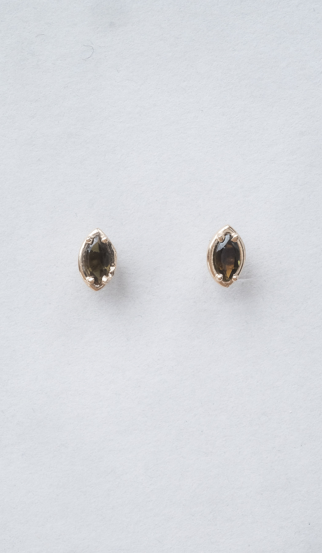 Kathryn Bentley Marquise Stud Earrings: Amber Tourmaline, Jewelry, Kathryn Bentley, SPARTAN SHOP