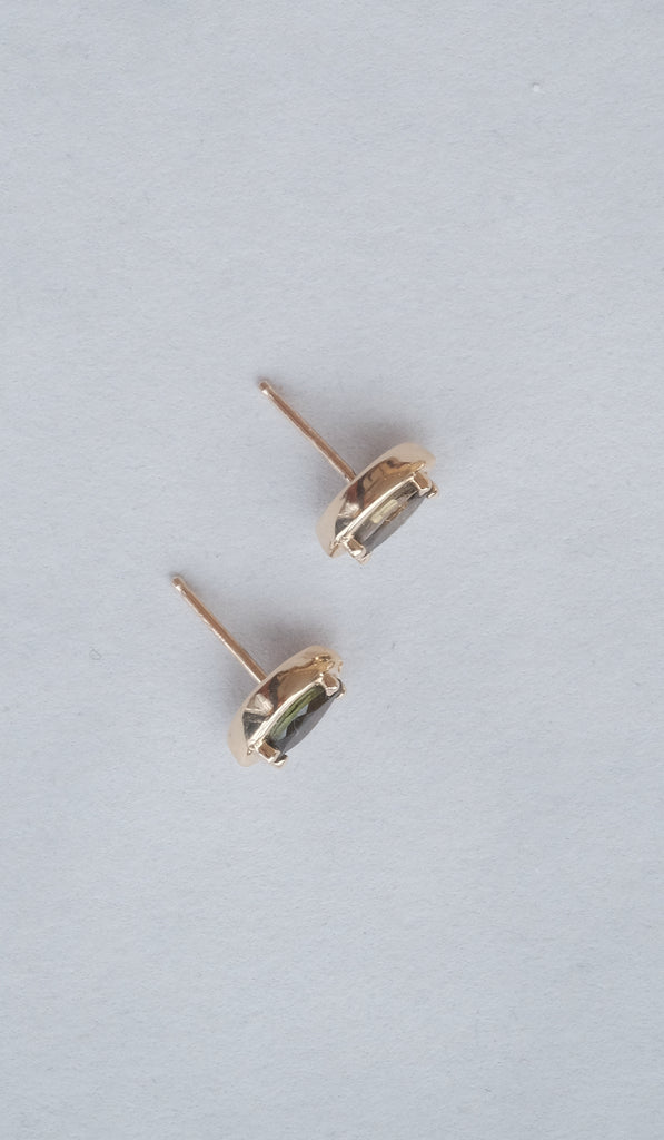 Kathryn Bentley Marquise Studs: Amber Tourmaline