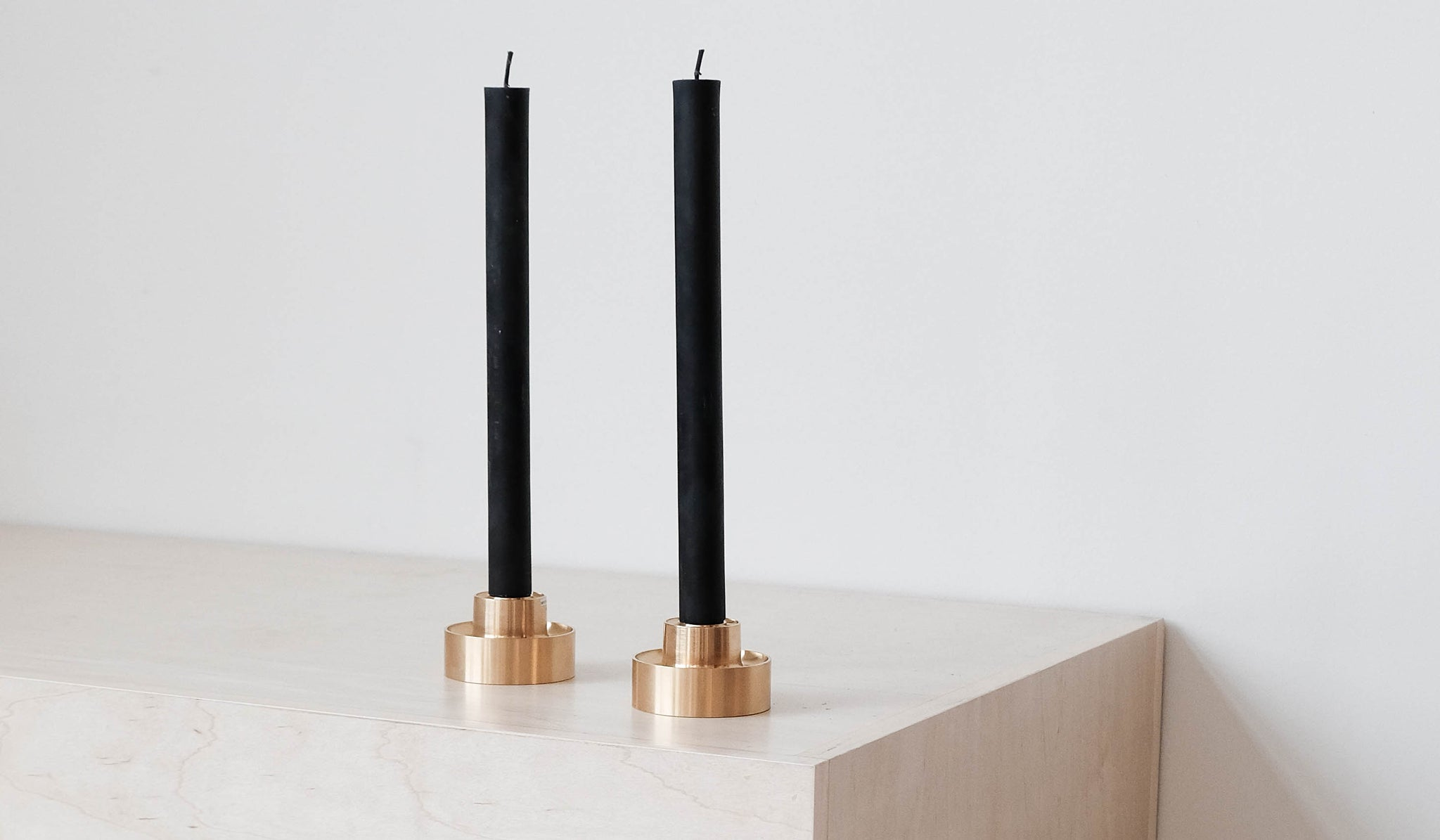 Cylinder Beeswax Candles: Black, Tabletop, Greentree Home*, SPARTAN SHOP