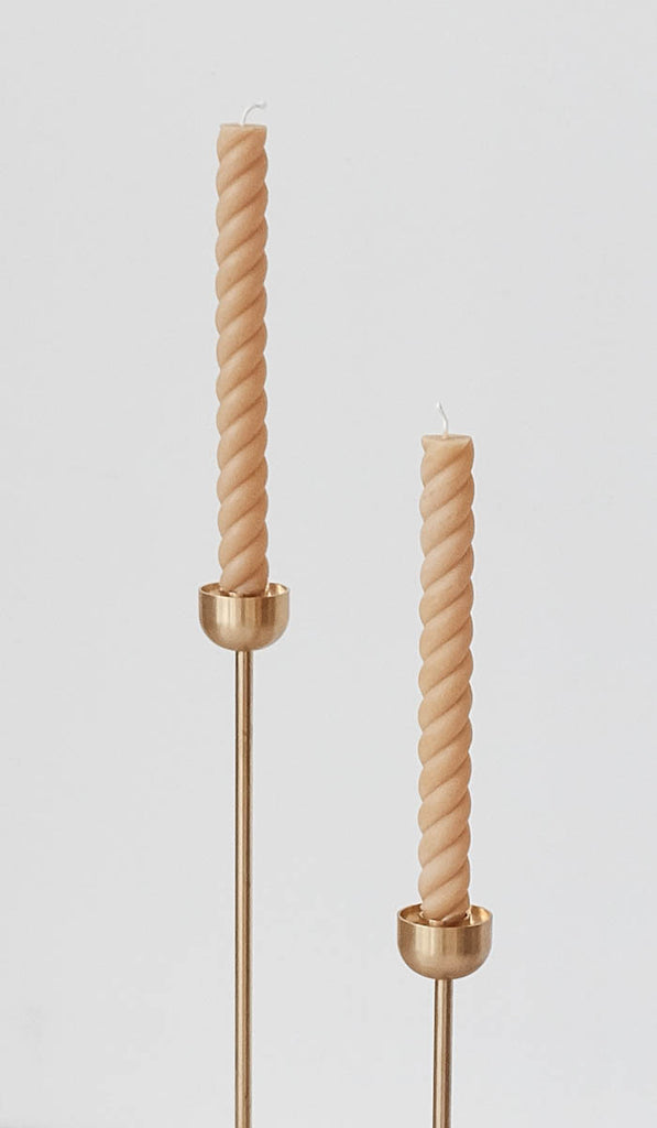 Rope Beeswax Candles Pair Of 2: Natural, Tabletop, Greentree Home*, SPARTAN SHOP