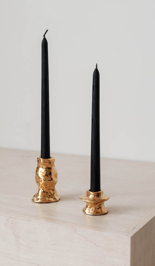 Beeswax Taper Candles: Black, Tabletop, Greentree Home*, SPARTAN SHOP