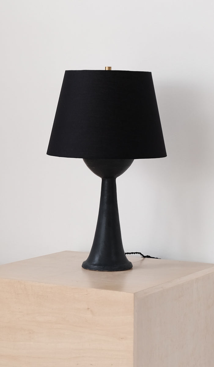 Danny Kaplan Tall Ceramic Table Lamp: Black, Home Goods, Danny Kaplan, SPARTAN SHOP