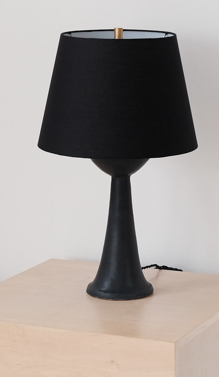 Danny Kaplan Tall Ceramic Table Lamp: Black, , Danny Kaplan, SPARTAN SHOP