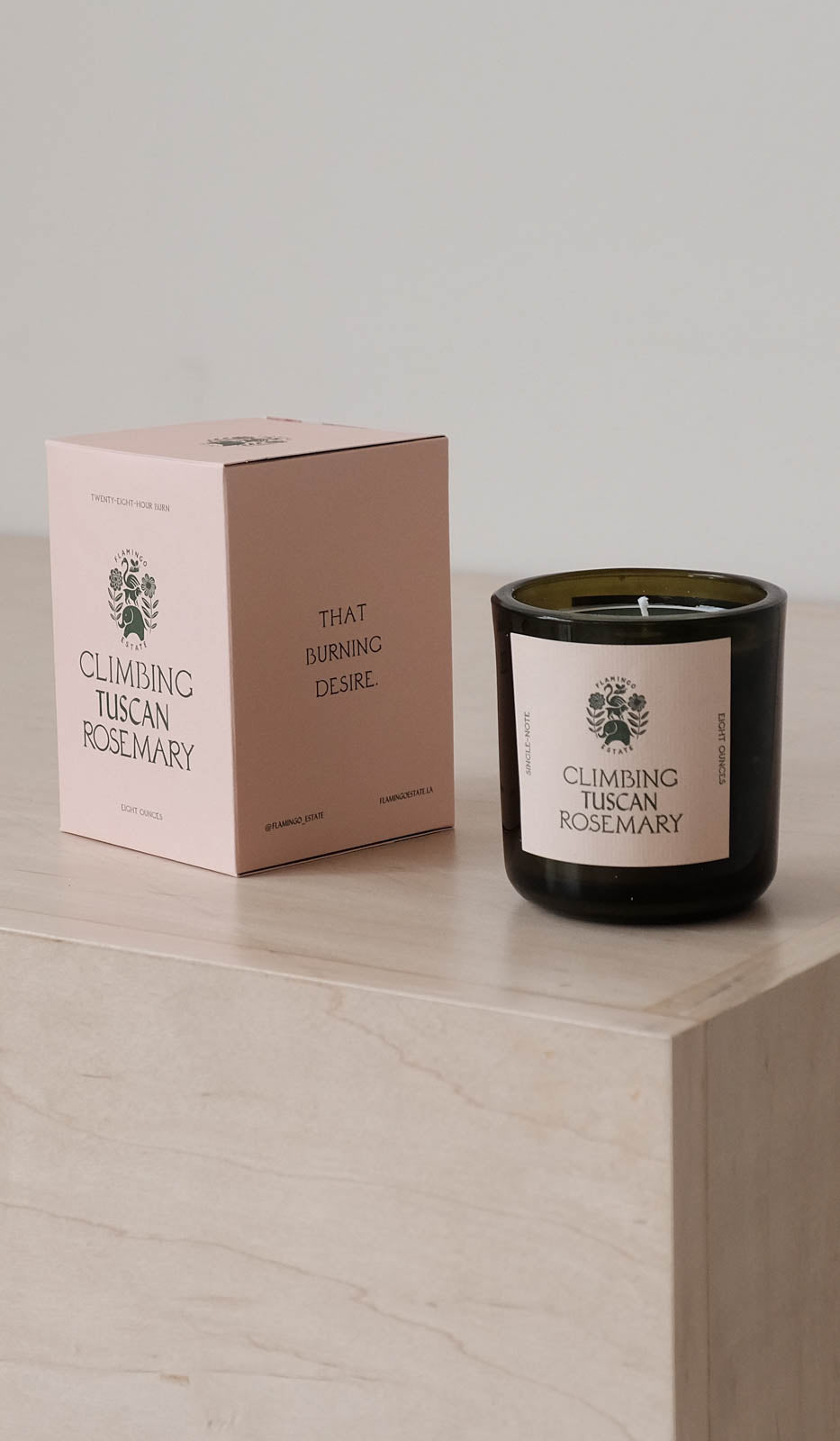 Flamingo Estate Candle: Climbing Tuscan Rosemary, Bath/Apothecary, Flamingo Estate, SPARTAN SHOP