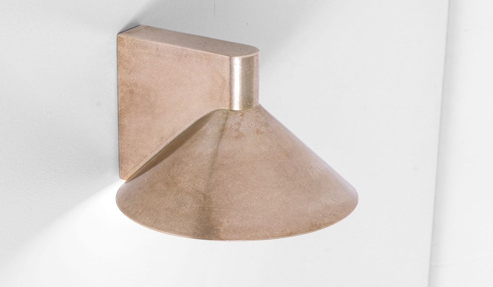 Studio Henry Wilson Polished Cast Bronze Conical Wall Light: Downward