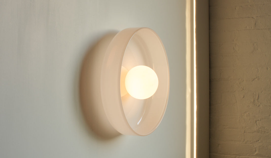 In Common With Hand Blown Glass Sconce: Opaline, Home Goods, In Common With, SPARTAN SHOP