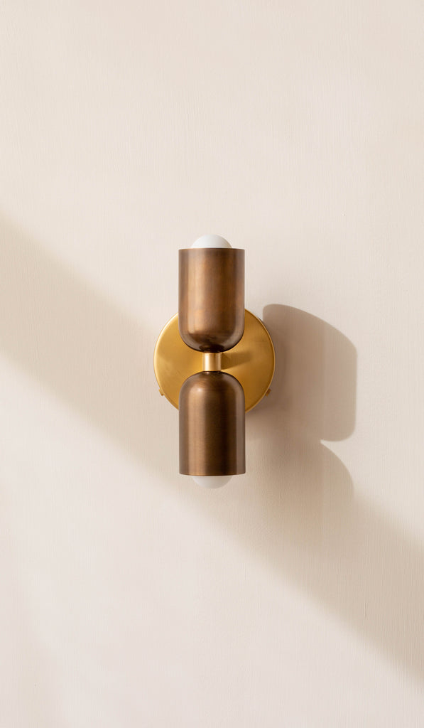In Common With Brass Up Down Sconce