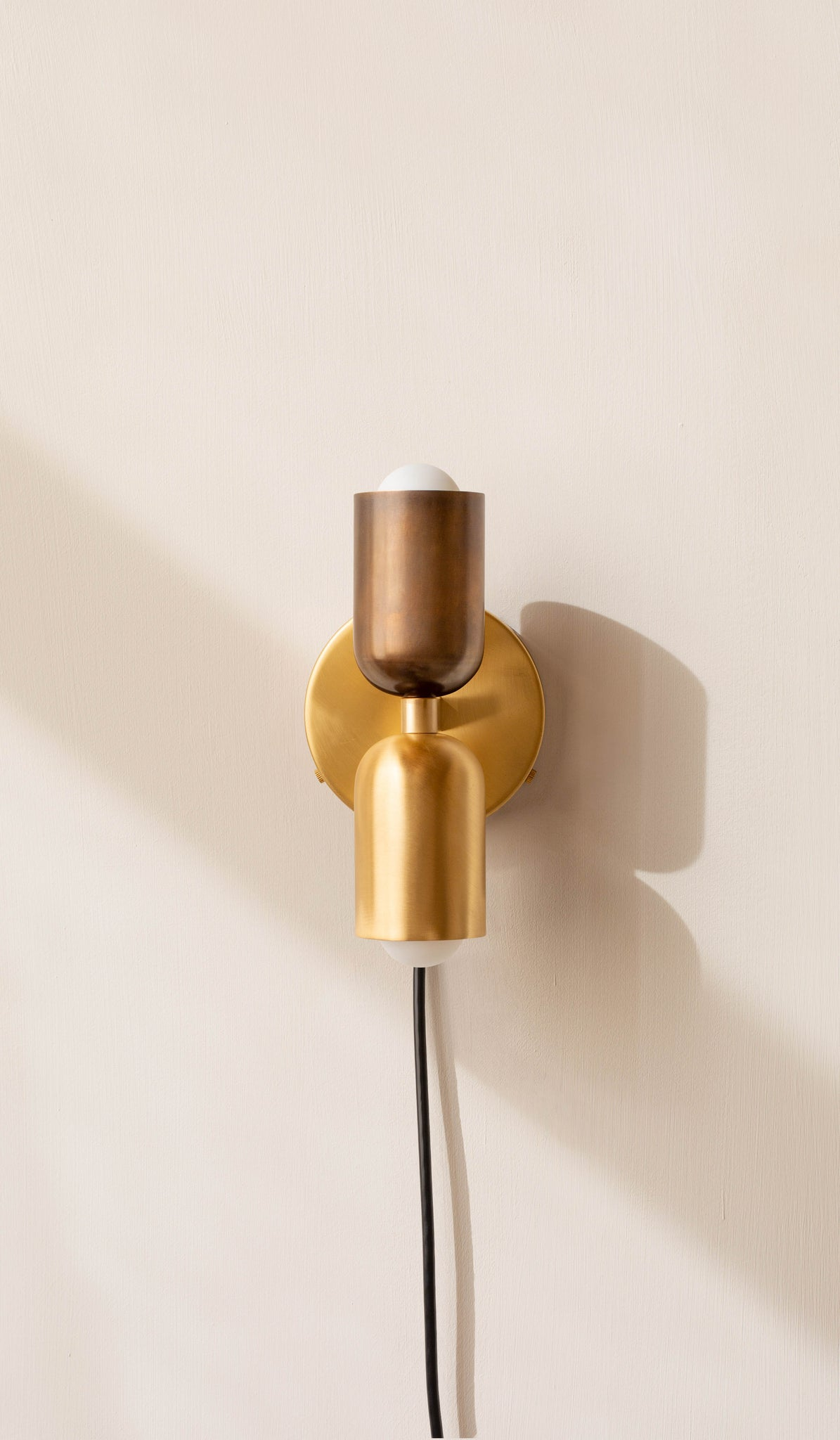 In Common With Brass Up Down Sconce - Plug In