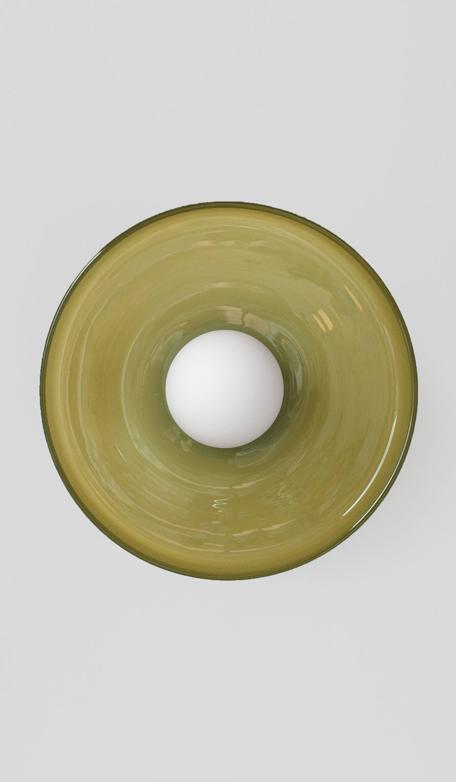 In Common With Blown Glass Disc Orb Surface Mount: Pistachio