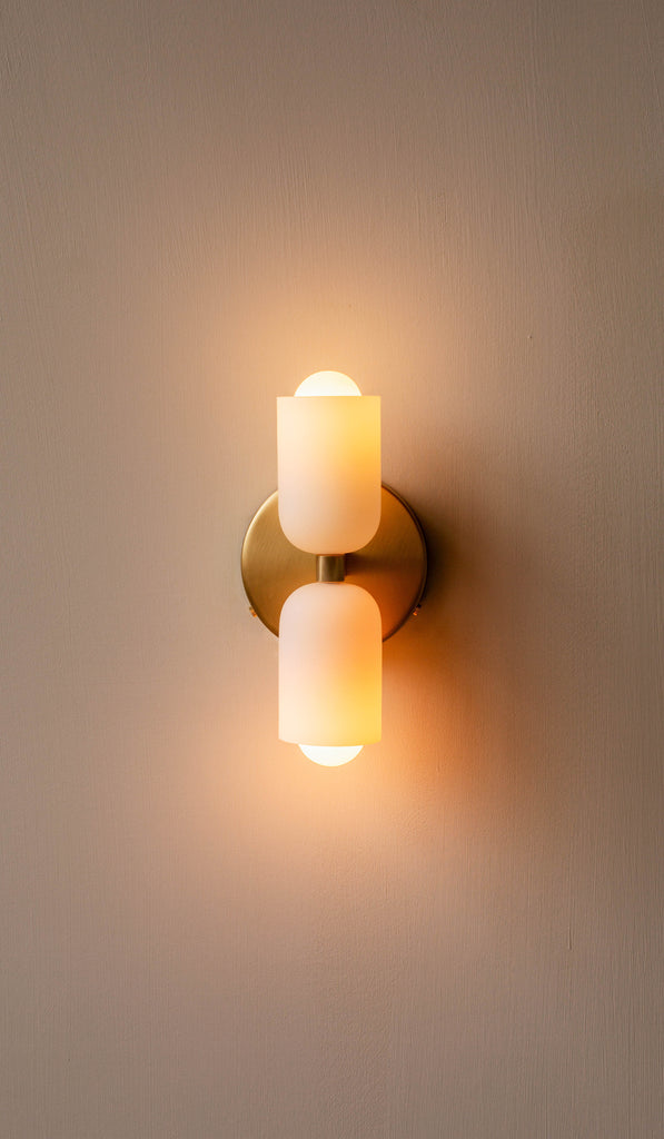 In Common With Glass Up Down Sconce