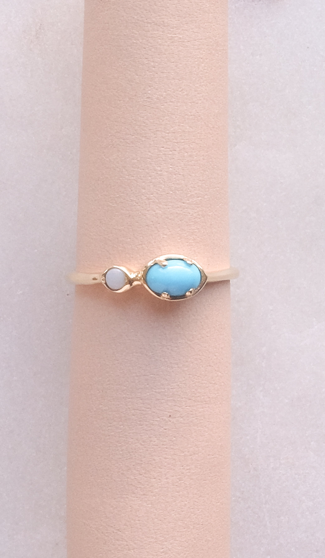 Kathryn Bentley Ellipse Dot Ring: Turquoise & Opal, Jewelry, Kathryn Bentley, SPARTAN SHOP
