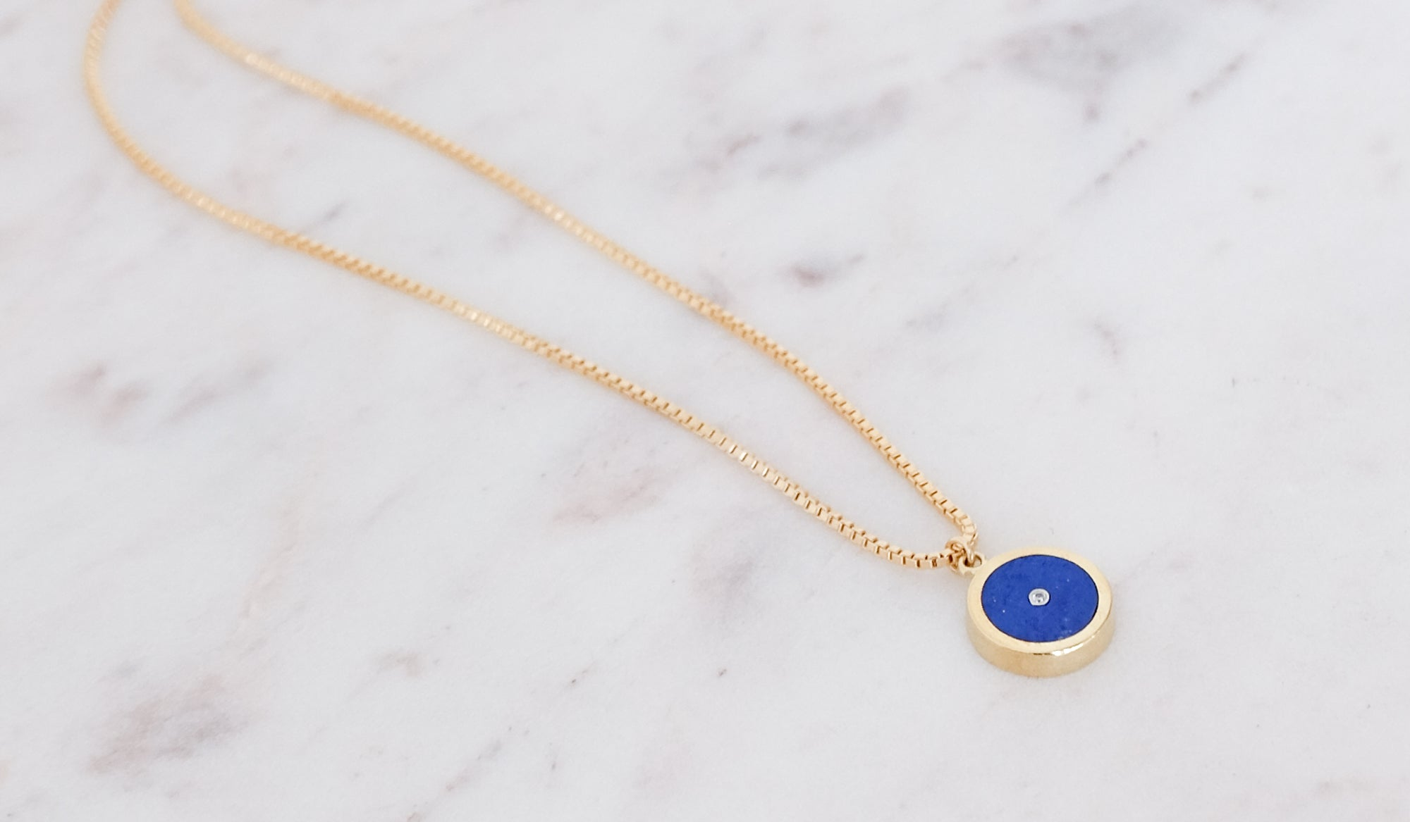 Legier Lapis Lazuli and Diamond Pendant Necklace, Jewelry, Legier, SPARTAN SHOP