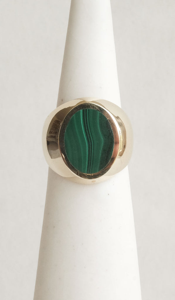Legier Malachite Oval Signet Ring, Jewelry, Legier, SPARTAN SHOP