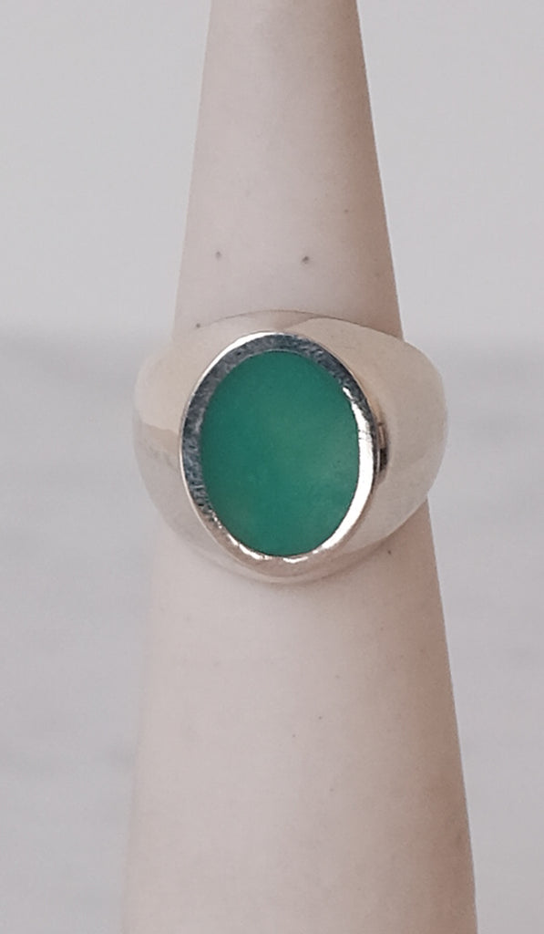 Legier Chrysopase Oval Signet Ring, Jewelry, Legier, SPARTAN SHOP