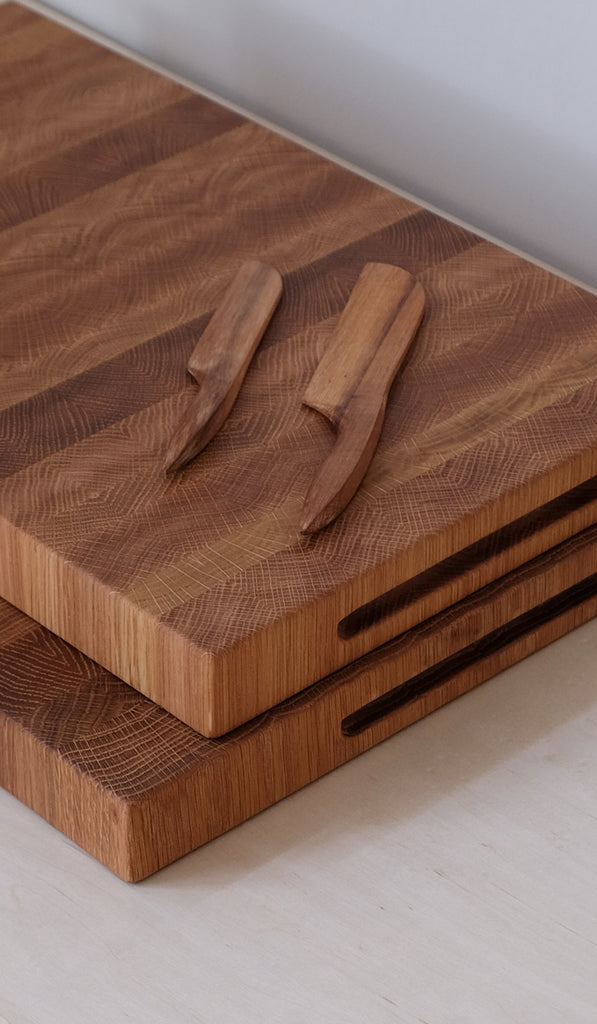 Jacob May Wesley Butcher Blocks: White Oak, Home Goods, Jacob May, SPARTAN SHOP