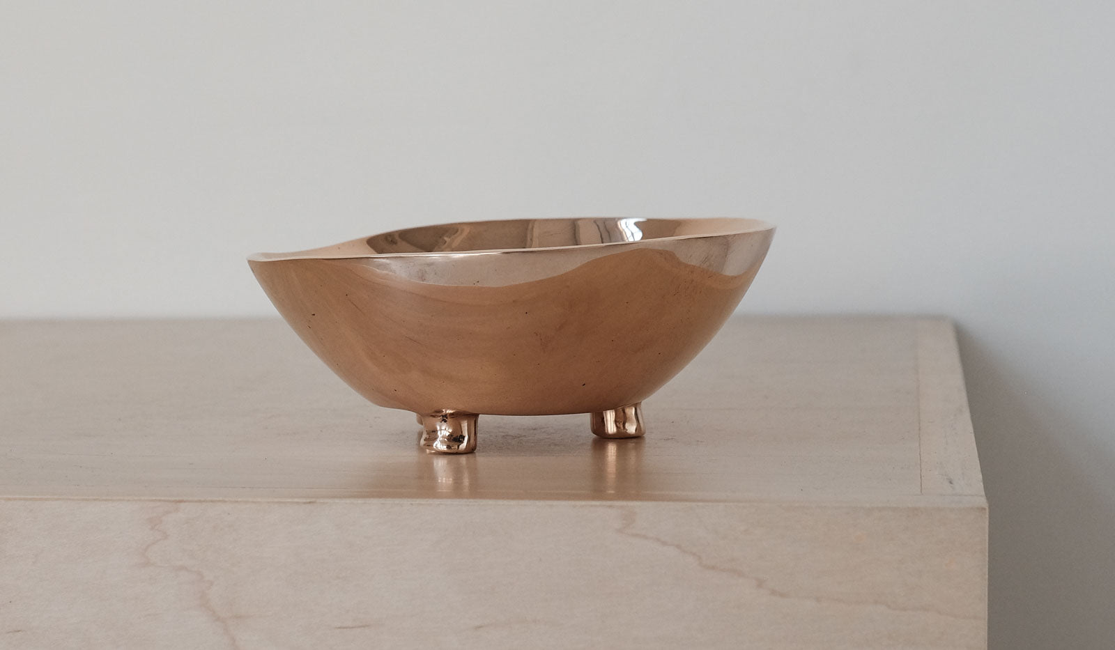Nancy Pearce Cast Bronze 3 Footed Bowl