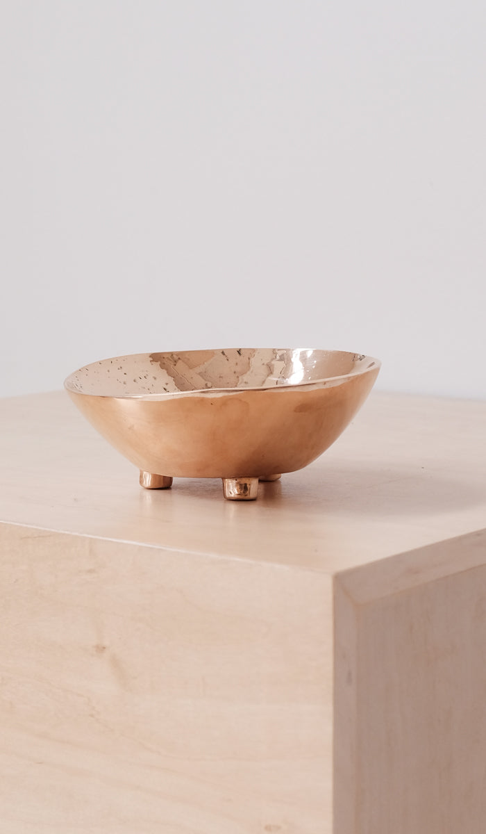 Nancy Pearce Cast Bronze 3 Footed Bowl, Home Goods, Nancy Pearce, SPARTAN SHOP