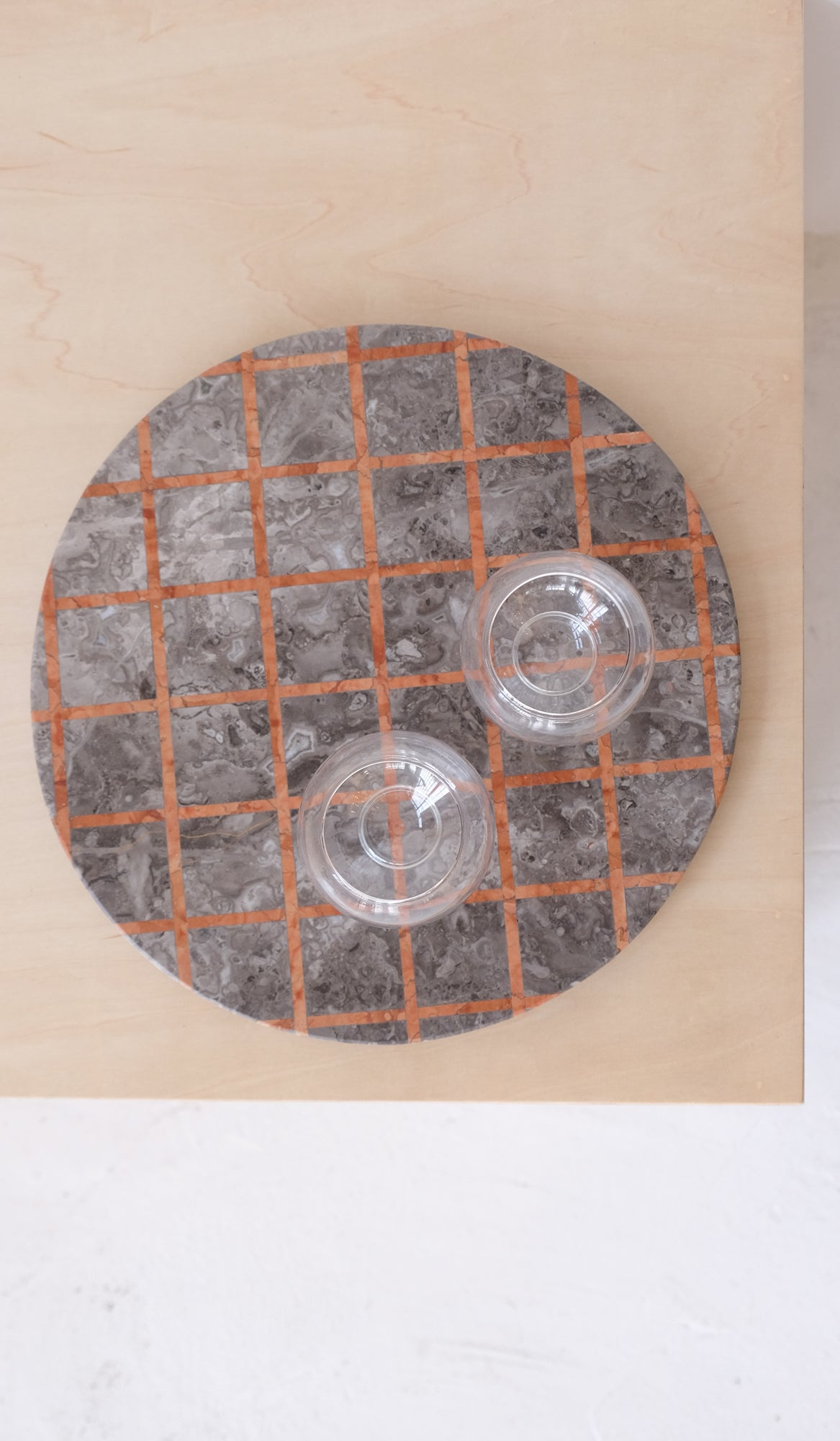 Marble Cut Out Platter: Gray Grid, Home Goods, Other Kingdom*, SPARTAN SHOP