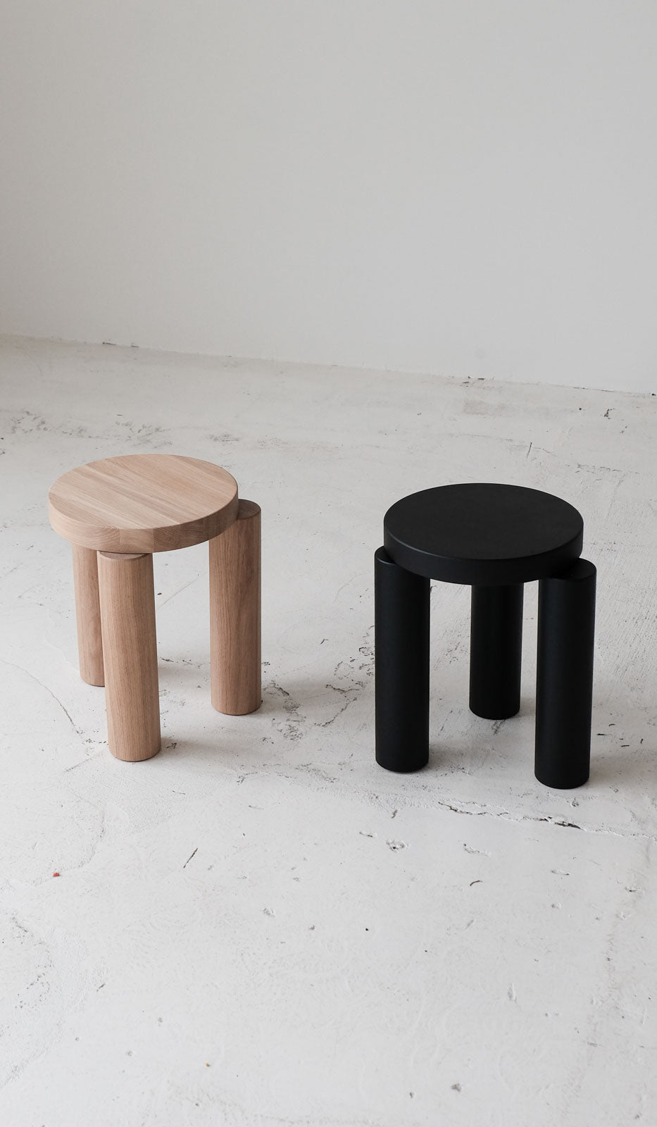 Resident Offset Stool / Side Table