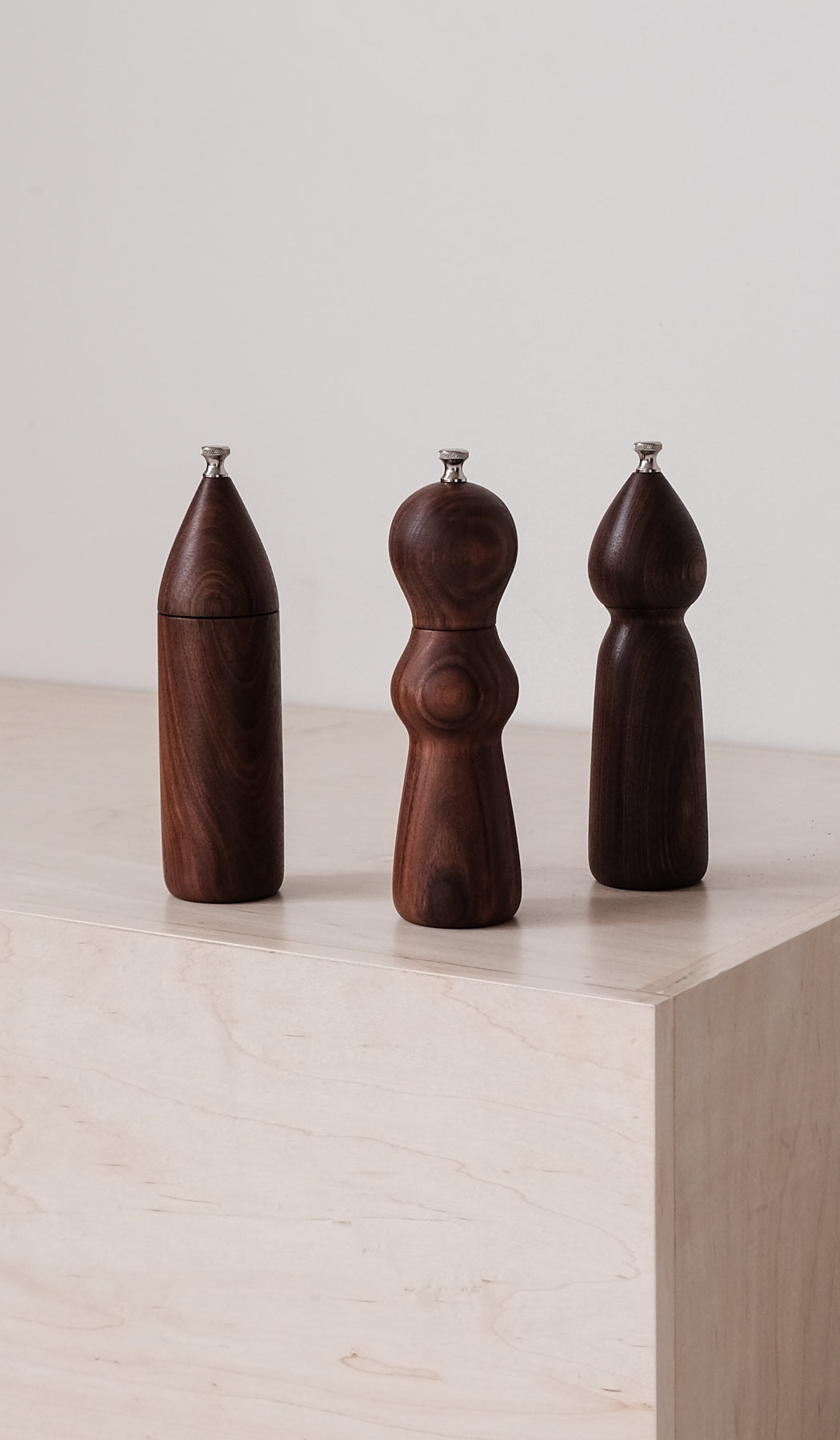 De Jong & Co Walnut Pepper Mills, Tabletop, De Jong & Co, SPARTAN SHOP