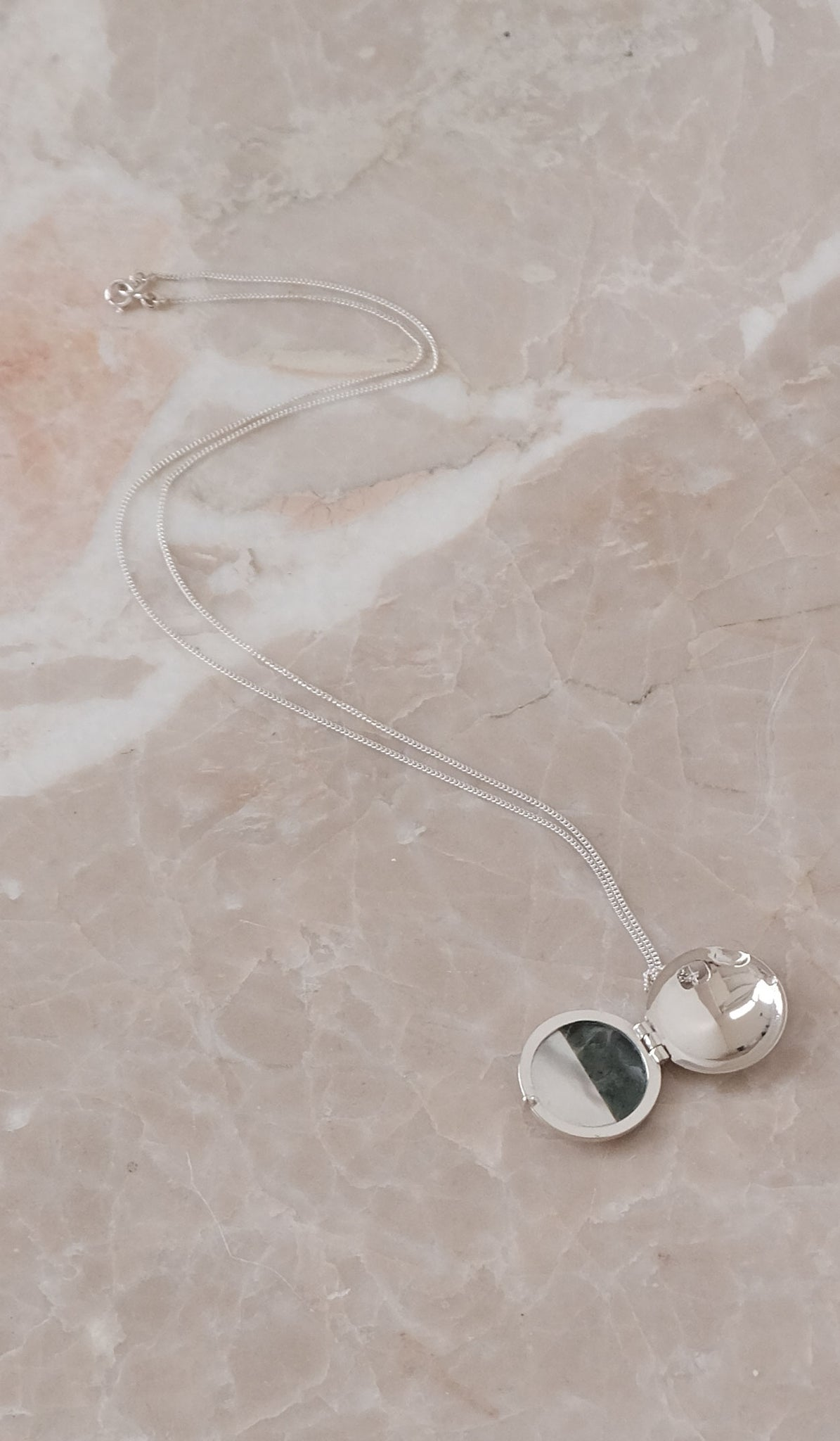 Ursa Major Stone Locket Necklace: Jade and Pearl