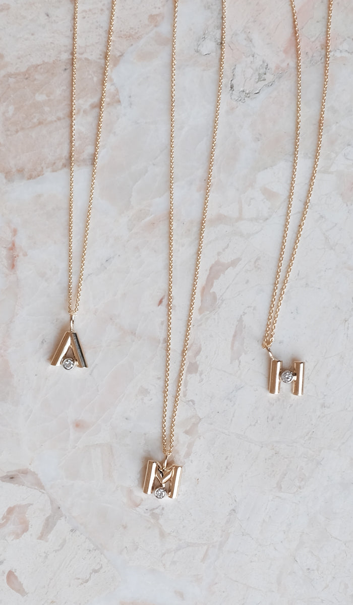 Vada Alphabet Charm Necklace