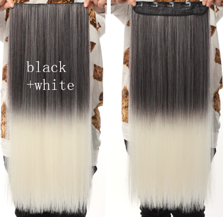Black And White Ombre Hair Extensions 18