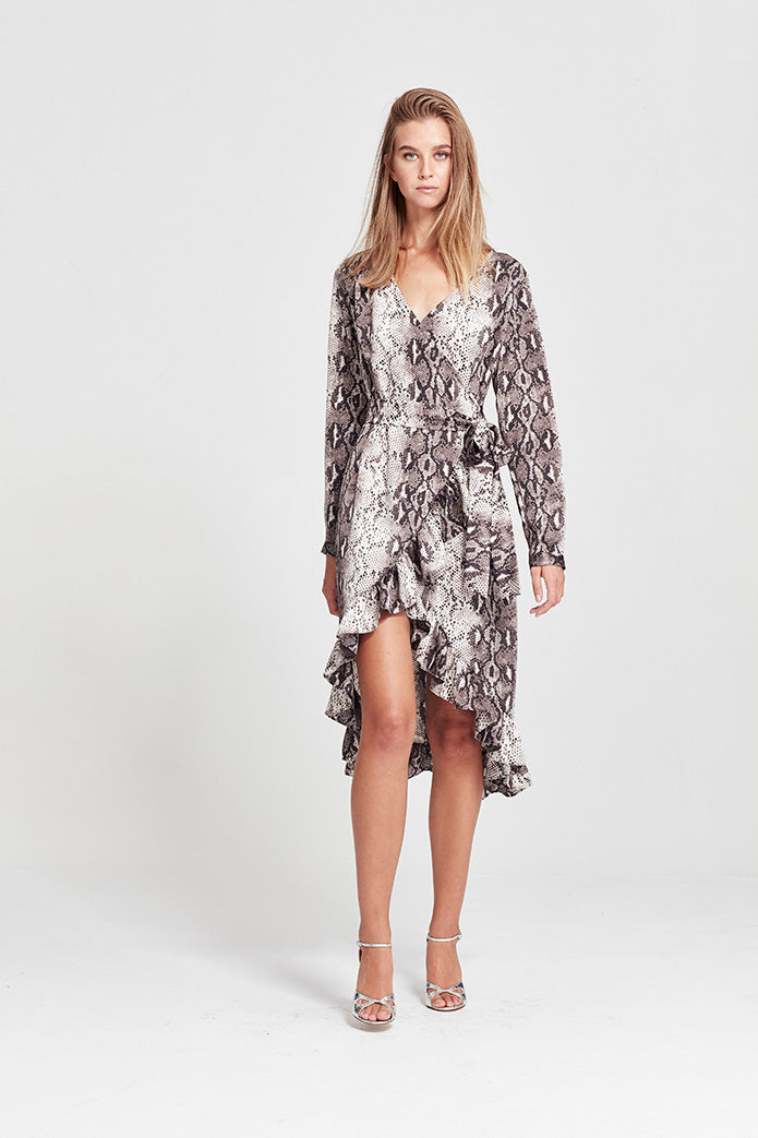 Milena Wrap Dress - Long - Yvonne Bennetti