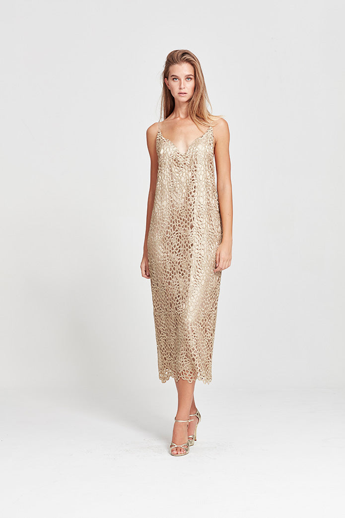 Valeria Gown - Gold Lace - Yvonne Bennetti