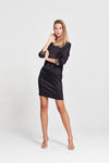 Sophie Dress - Black Leopard Print - Yvonne Bennetti